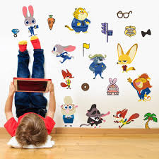 cartoon movie zootopia car wall stickers cartoon zoo for kids room see larger image