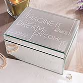 engravable box personalized mirrored jewelry boxes