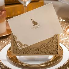 Wedding Cards Online India Online Shop 1pcs Sample Gold Hollow Laser Cutting Marriage Wedding