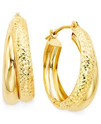 10k earrings 10k gold hoop earrings earrings jewelry watches macy s