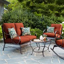 Lazy Boy Outdoor Patio Furniture by La Z Boy Avery 4 Piece Seating Set Red Limited Availability