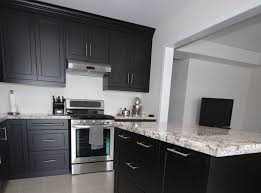 kitchen cabinets in mississauga custom kitchen cabinets in black thermo laminated mdf with shaker