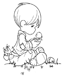 precious moments animals coloring pages bing images presious