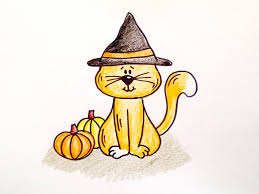 drawing lesson how to draw a halloween cat grab paper crayons