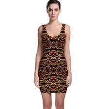 abstract pattern sleeveless dress modern retro chevron patchwork pattern sleeveless dress women