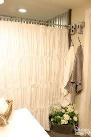 Bathroom Curtain Ideas For Shower Farmhouse Shower Curtain Free Home Decor Oklahomavstcu Us