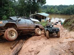 white jeep stuck in mud off road driving 4x4 venture bushmasters