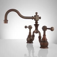 vintage bridge kitchen faucet lever handles kitchen