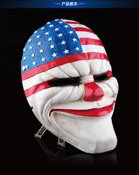 clown halloween masks payday 2 mask resin the heist dallas wolf chains hoxton cosplay