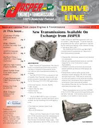 jasper engines and transmissions newsletter archives