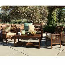 Patio Furniture Sets Furniture Wood Patio Furniture You U0027ll Love Wayfair Regarding
