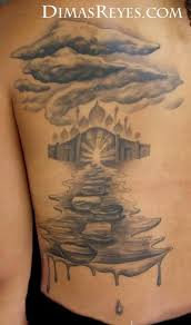 kingdom studio tattoos misc black and grey pathway to heaven