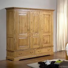 rangement armoire chambre armoire de chambre chêne massif 3 portes 2 3 penderie 1 3 ère