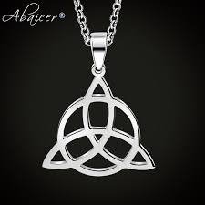 necklace pendant knots images Abaicer wicca triangle viking runes jewelry celtic knots necklaces jpg