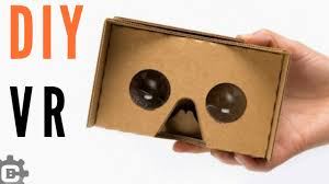 How To Make I How To Make Vr Cardboard Easy Vr Headset At Home Youtube