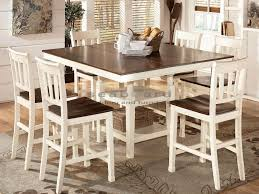 Pub Table Set Ashley D583 Whitesburg Two Tone 7pc White Pub Table Set Myrtle Beach