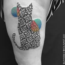intricately detailed sleeve tattoos created using geometric shapes