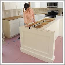 installing a kitchen island build a diy kitchen island build basic