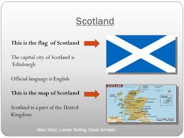 scotland this is the flag of scotland the capital city of scotland