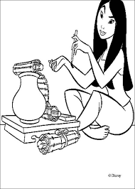 fa mulan coloring pages hellokids
