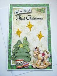 handmade personalised baby u0027s 1st christmas card charm little boy