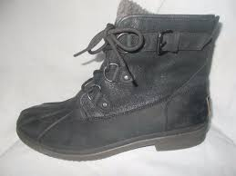 womens shearling boots size 11 ugg cecile s waterproof winter shearling duck boots black
