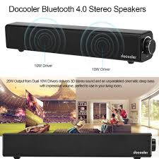 docooler bluetooth 4 0 speakers 4400mah built in battery deep