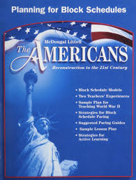 amazon com mcdougal littell the americans planning for block