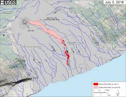 Map Of Big Island Hawaii Lava Update Flow Nearly 1 Mile From The Ocean