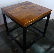 wood metal end table reclaimed wood and metal end table with storage side abysmal wood