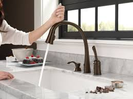 One Touch Kitchen Faucet Faucet Com 980t Ar Dst In Arctic Stainless By Delta