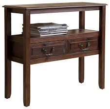 Accent Console Table Noah Wood Accent Table Traditional Console Tables By Gdfstudio