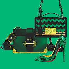 accessories black and green from prada ferragamo et louboutin