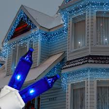 white icicle christmas lights 100 blue icicle lights white wire short drops icicle lights