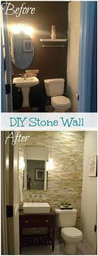 bathroom accent cabinet stone accent wall in the bathroom adds class and needs minimal