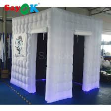 photo booth tent pas cher éclairage led gonflable photo booth tente avec 2 portes