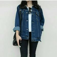Baju Levis Biru jaket denim levis oversize biru klasik kemeja wanita ssn