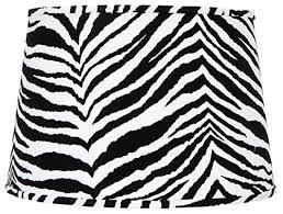 Zebra Print Table Lamp Upgradelights Zebra Fabric Print Floor Or Table Lamp Drum