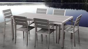 beliani aluminium garden furniture vernio polywood table 180 cm