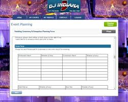 wedding planning software wedding event planner wedding planning dj indiana