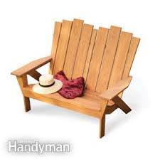 How To Build An Adirondack Chair How To Make An Adirondack Chair And Love Seat Family Handyman