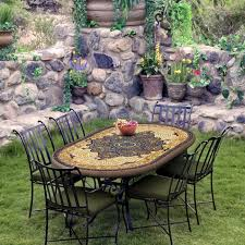 Mosaic Bistro Table Knf Garden Designs Knf Mosaic Bistro Table 72x42