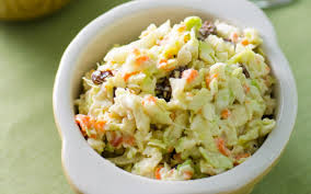 veggie coleslaw with avocado mayo and cashew sour cream vegan
