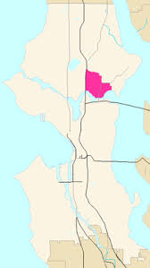 seattle map by district district