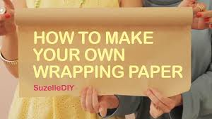 how to make your own wrapping paper