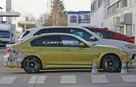 Bmw M3 Yellow 2016 - we spy bmw u0027s 2016 m3 sedan facelift for the first time