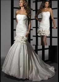 convertible mermaid wedding dress convertible mermaid style taffeta wedding gown removable skirt