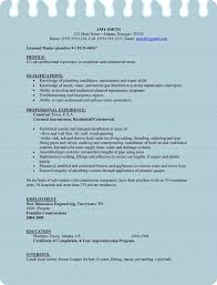 sample plumber resume for microsoft word doc