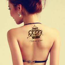 buy red crown tattoos and get free shipping on aliexpress com