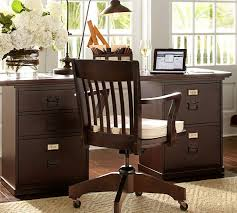 Espresso Desk With Hutch Bedford Rectangular Desk Pottery Barn